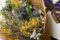 【Fête des fleurs(フェテ ド フルール)】ドライフラワーのスワッグ、ブーケ、サシェ